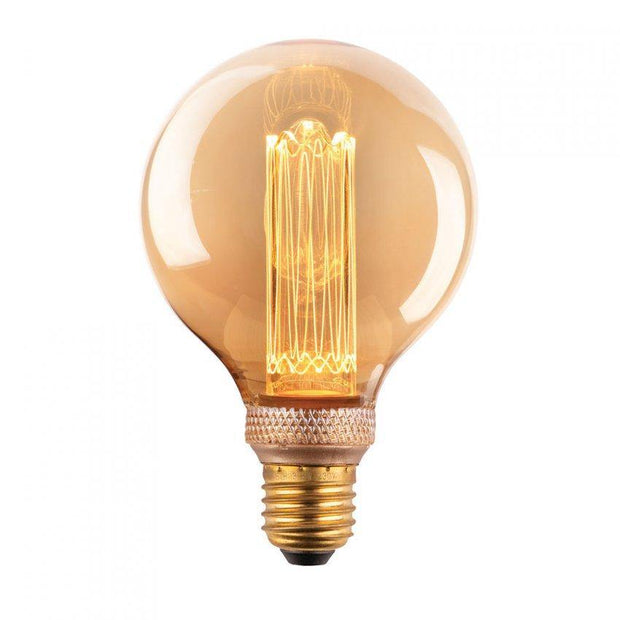 3.5w Edison Screw (ES) G95 Laser Cut Vintage Dimmable LED Globe - Lighting Superstore