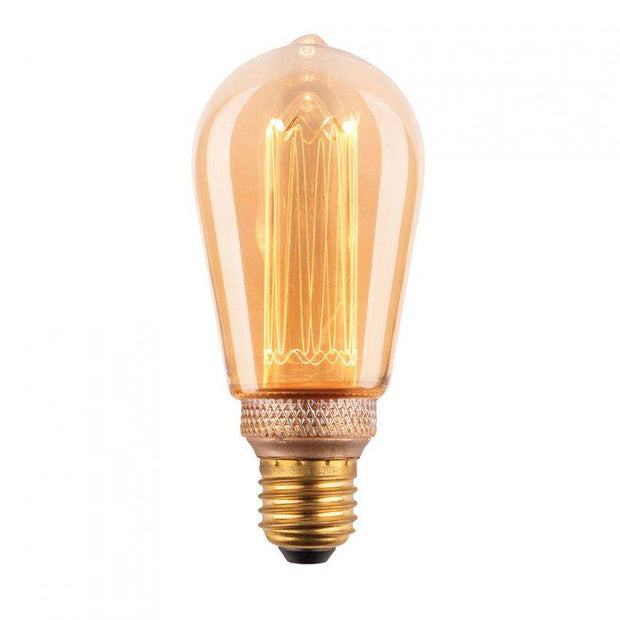 3.5w Edison Screw (ES) Pear Laser Cut Vintage Dimmable LED Globe - Lighting Superstore