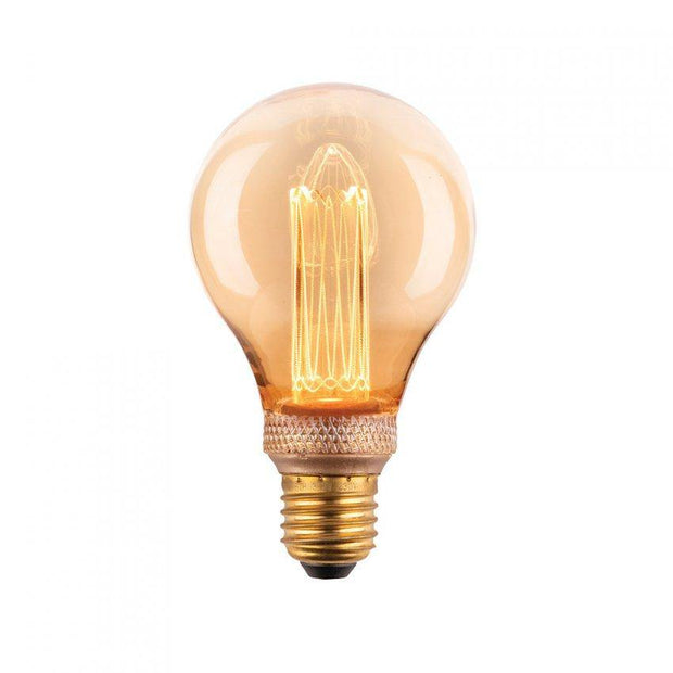 2.3w Edison Screw (ES) A60 Laser Cut Vintage Dimmable LED Globe - Lighting Superstore
