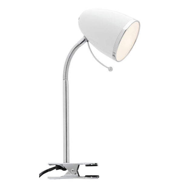 Sara Clamp Lamp - White