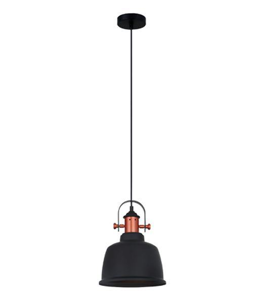 Alta Pendant Light Black and Copper - Lighting Superstore