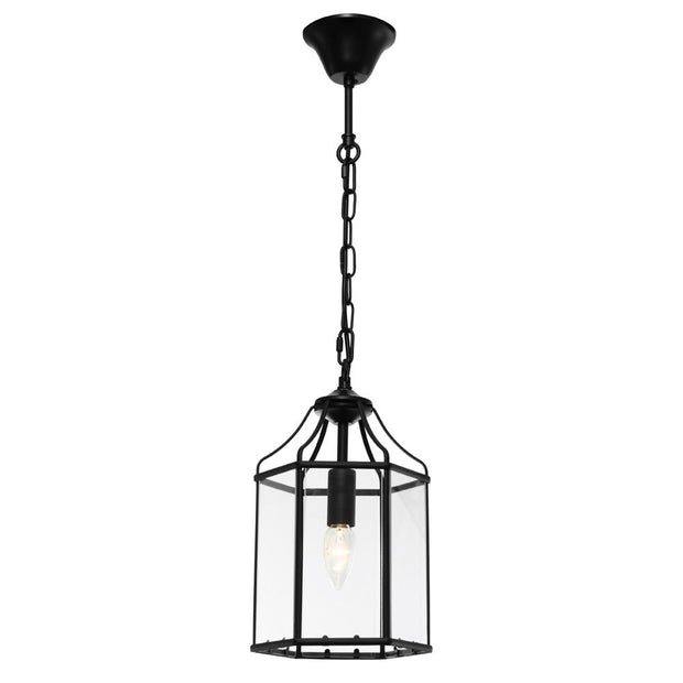 Arcadia Single Light Pendant Black