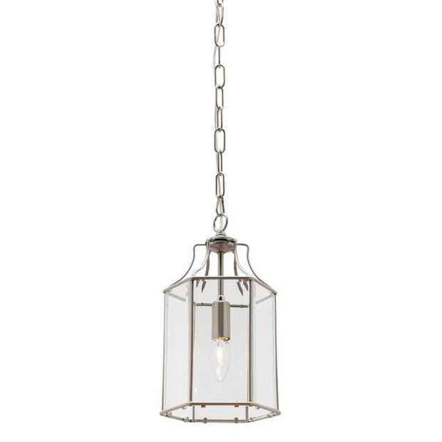 Arcadia Single Light Pendant Satin Chrome