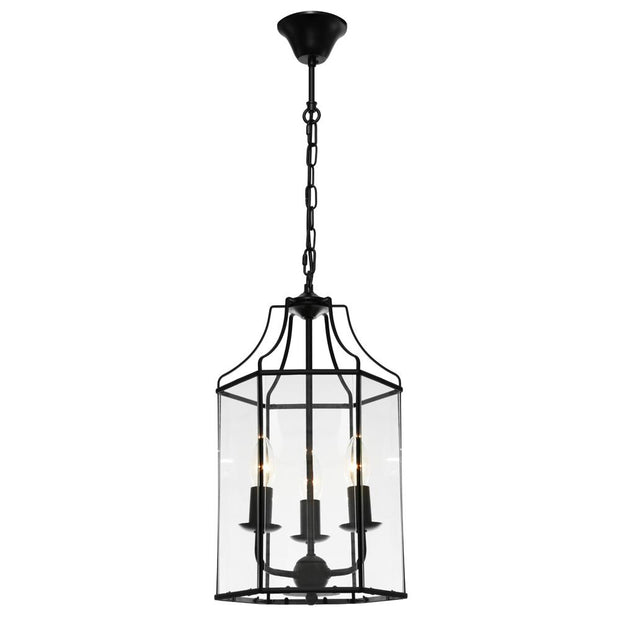 Arcadia 3 Light Pendant Black