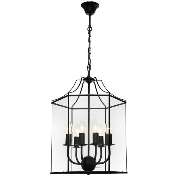 Arcadia 6 Light Pendant Black
