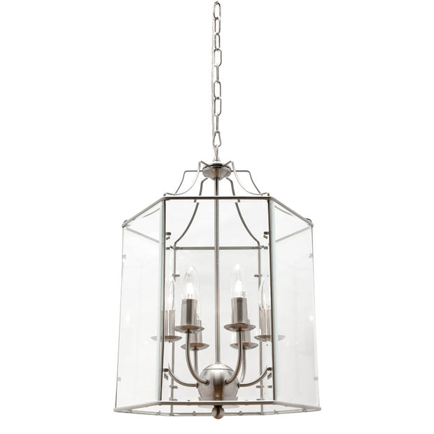 Arcadia 6 Light Pendant Satin Chrome