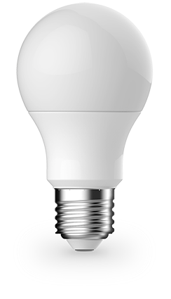 9.5w Edison Screw (ES/E27) LED Warm White GLS Frosted