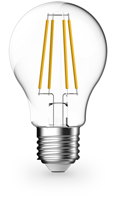 8.3w Edison Screw (ES/E27) LED Warm White GLS Filament Dimmable - Lighting Superstore