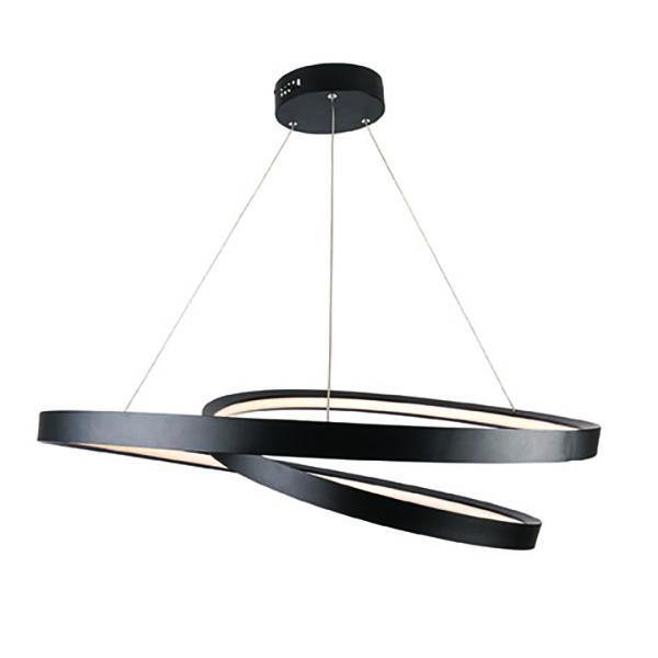 Armstrong LED Pendant Light Black - Large - Lighting Superstore