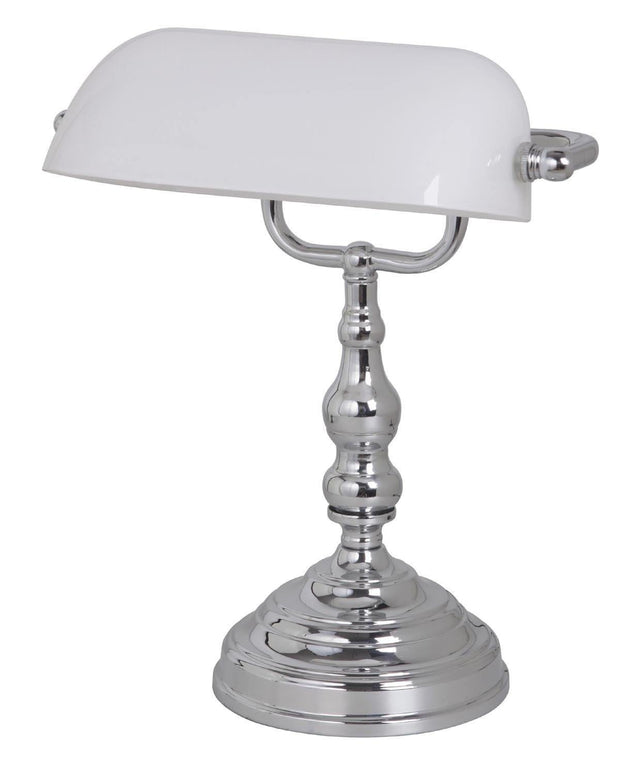 Bankers Table Lamp Chrome