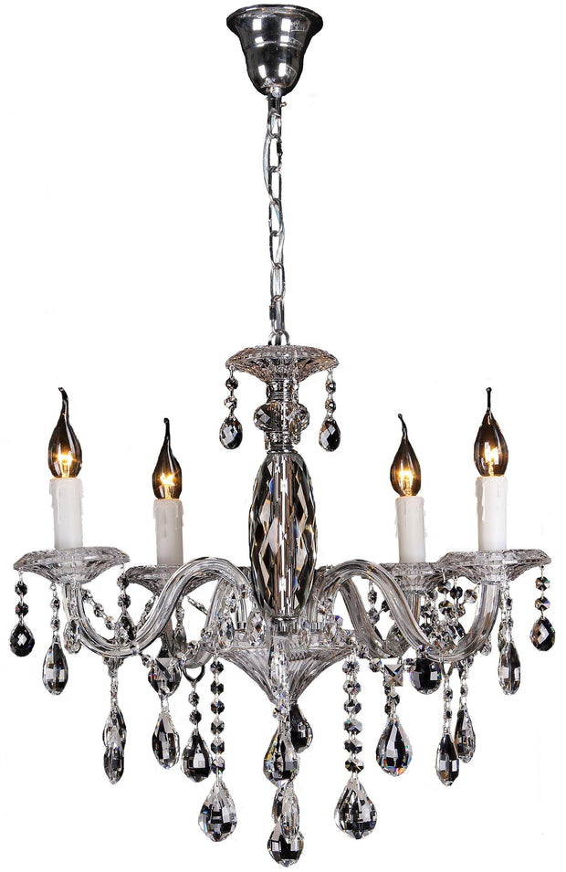 Berlin 5 Light Crystal Chandelier - Lighting Superstore