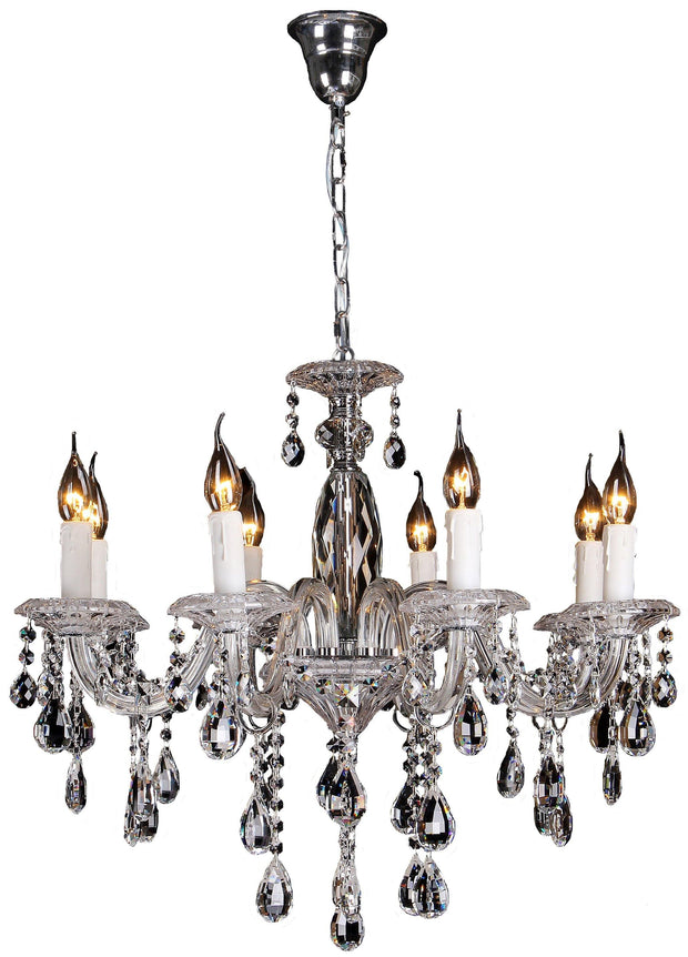 Berlin 8 Light Crystal Chandelier - Lighting Superstore