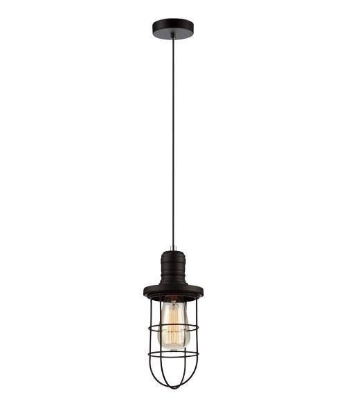 Blackband Single Iron Cage Pendant Curved