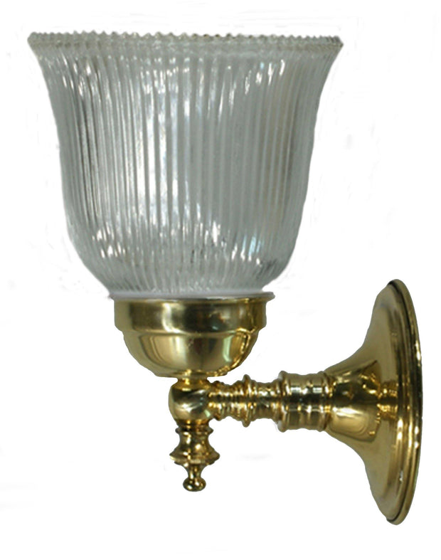 Kline Antique Brass Wall Light Clear