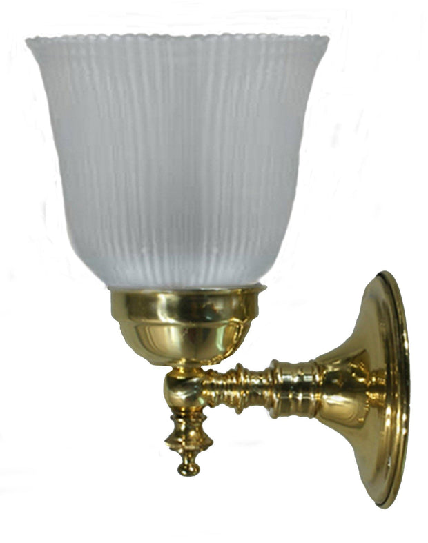 Kline Antique Brass Wall Light Frosted