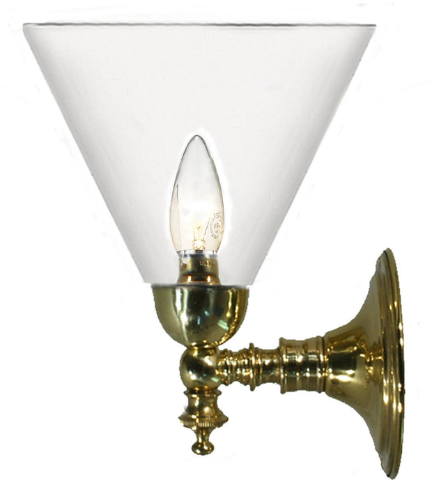 Koscina Wall Light Brass Cone - Clear