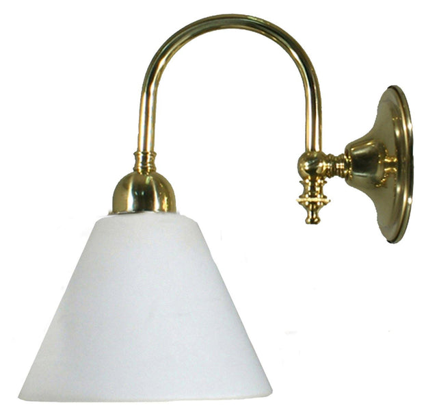 Loxton Wall Light Brass Cone - Opal