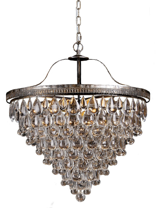 Cascade 10 Light Crystal Chandelier - Lighting Superstore