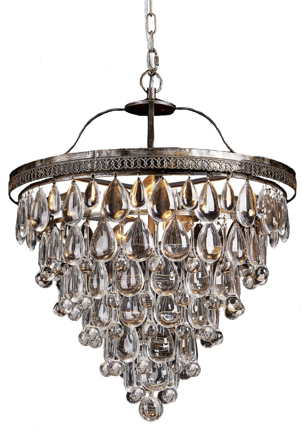 Cascade 6 Light Crystal Chandelier - Lighting Superstore