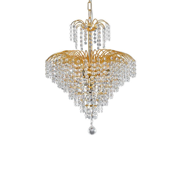 Cascade Small Chandelier Gold - Lighting Superstore