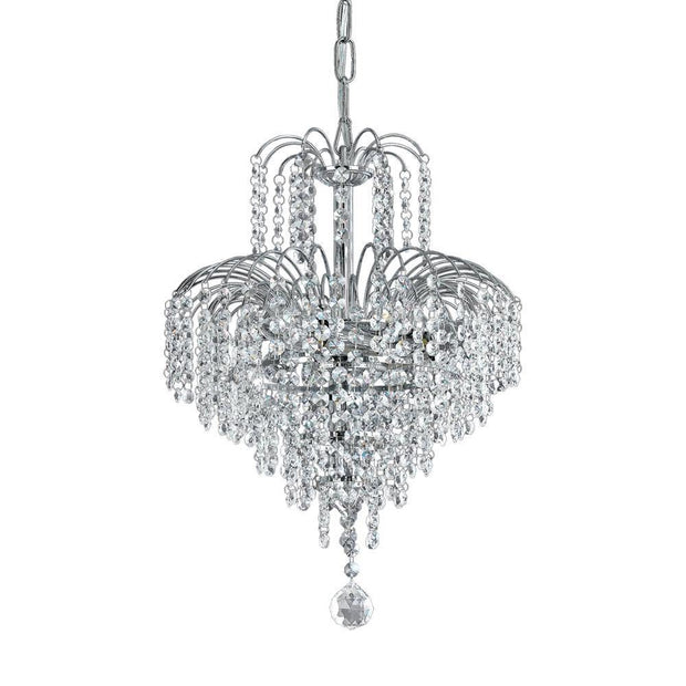 Cascade Large Chandelier Chrome - Lighting Superstore