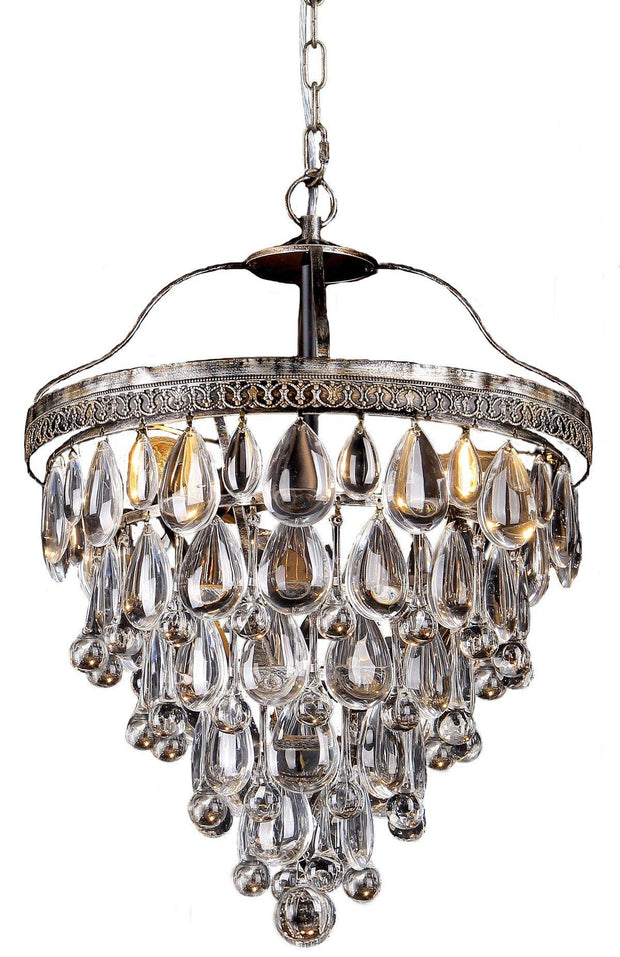 Cascade 3 Light Crystal Chandelier - Lighting Superstore