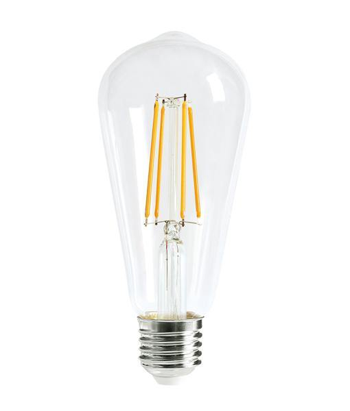 8w Edison Screw (ES) Carbon Filament LED Pear Warm White - Lighting Superstore