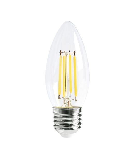 4w Edison Screw (ES) Carbon Filament LED Candle Daylight - Lighting Superstore
