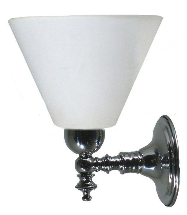 Koscina Wall Light Chrome Cone - Opal