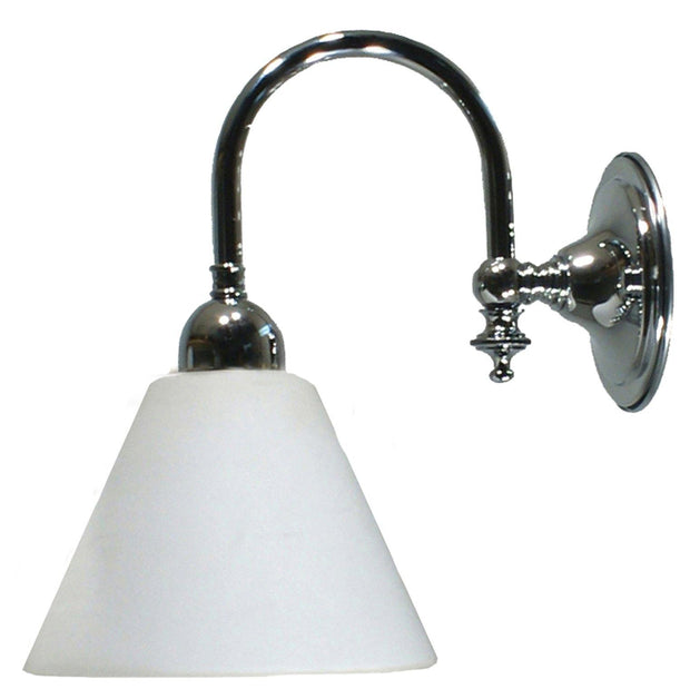 Loxton Wall Light Chrome Cone - Opal