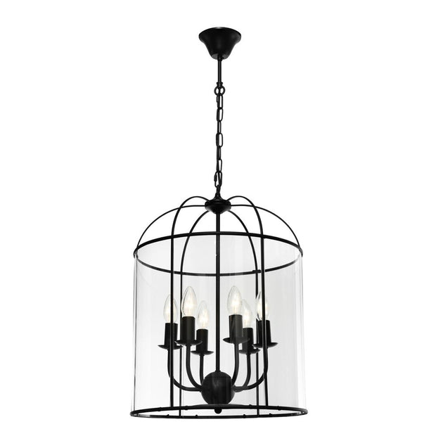 Clovelly 6 Light Pendant - Black
