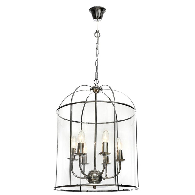 Clovelly 6 Light Pendant - Chrome