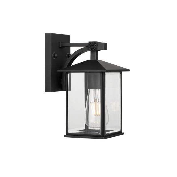 Coby Exterior Wall Light Black Small - Lighting Superstore
