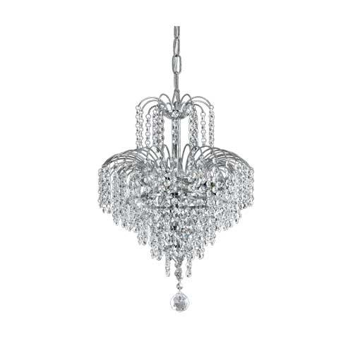 Cascade Small Chandelier Chrome - Lighting Superstore