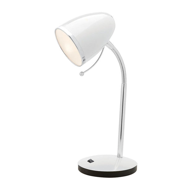 Sara Desk Lamp with USB Port - White - Lighting Superstore