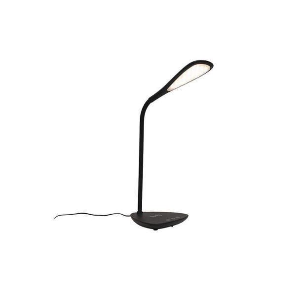 Timothy LED Desk Lamp with Wireless Charging Black