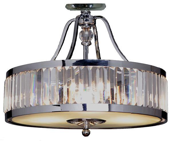 Excelsior 3 Light Crystal CTC Close to Ceiling - Lighting Superstore