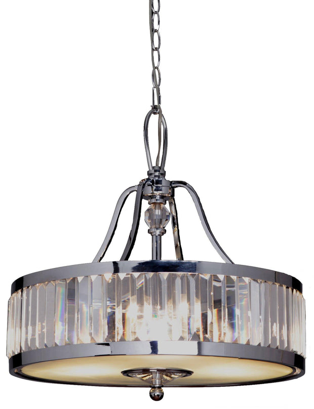 Excelsior 3 Light Crystal Pendant - Lighting Superstore