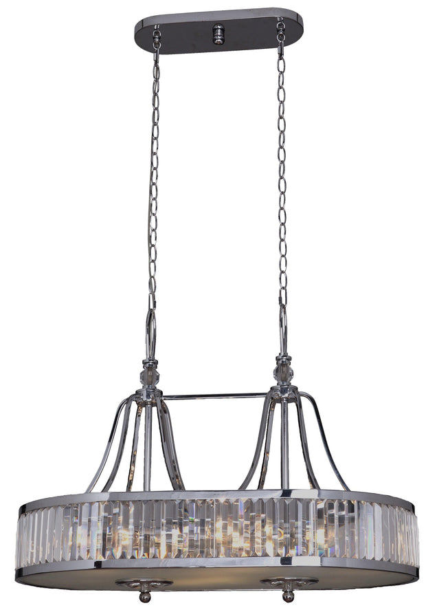 Excelsior 8 Light Crystal Bench Pendant - Lighting Superstore
