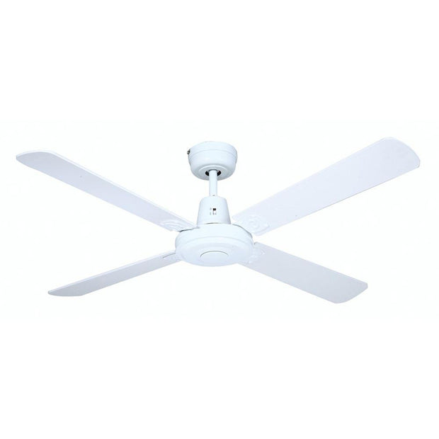 Swift 52 Ceiling Fan White Timber