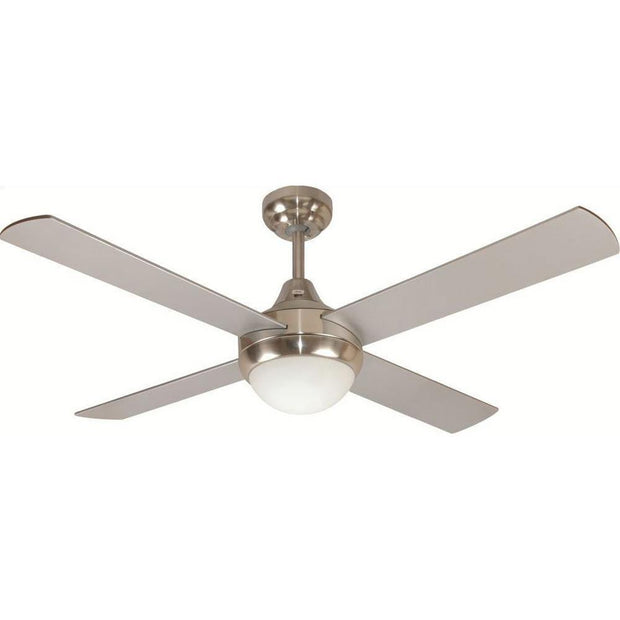 Glendale 48 Ceiling Fan Brushed Chrome - B22 Light