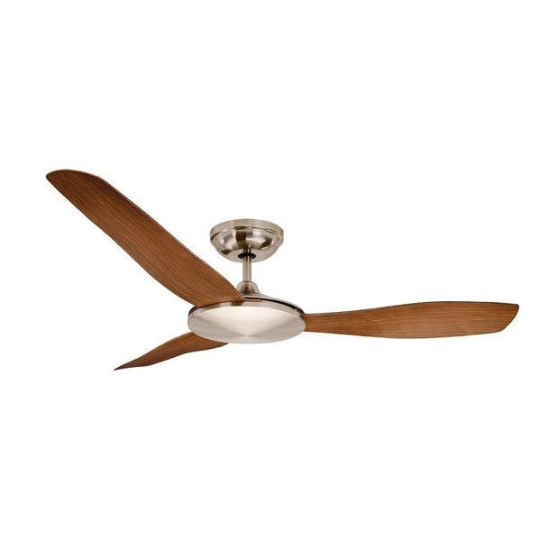Sorrento 52 DC Ceiling Fan Brushed Chrome and Cherry