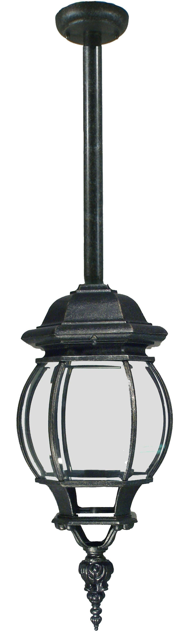 Flinders Exterior Rod Pendant - Antique Black - Lighting Superstore