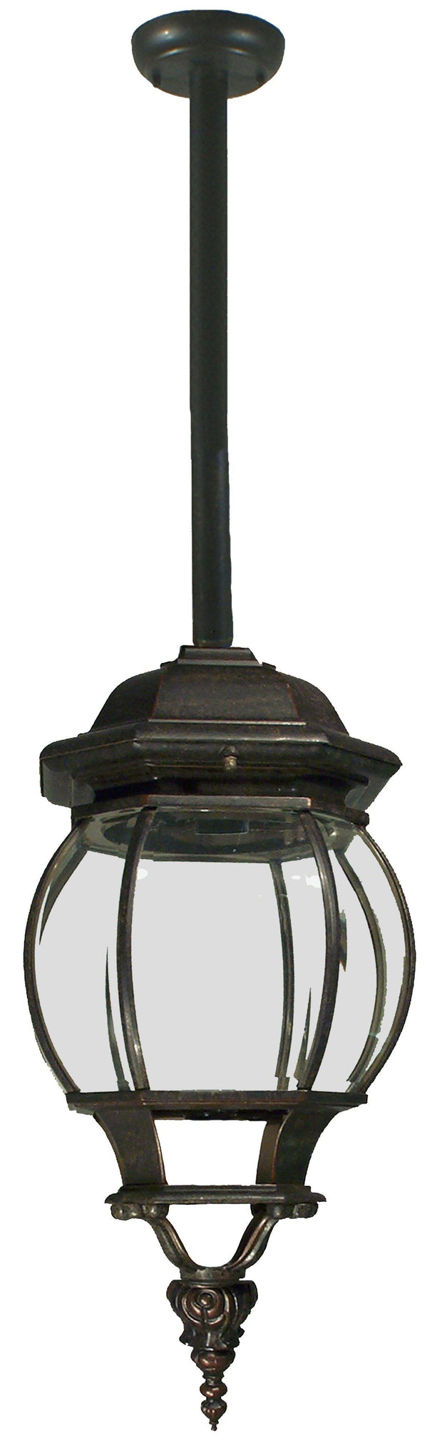 Flinders Exterior Rod Pendant - Antique Bronze - Lighting Superstore