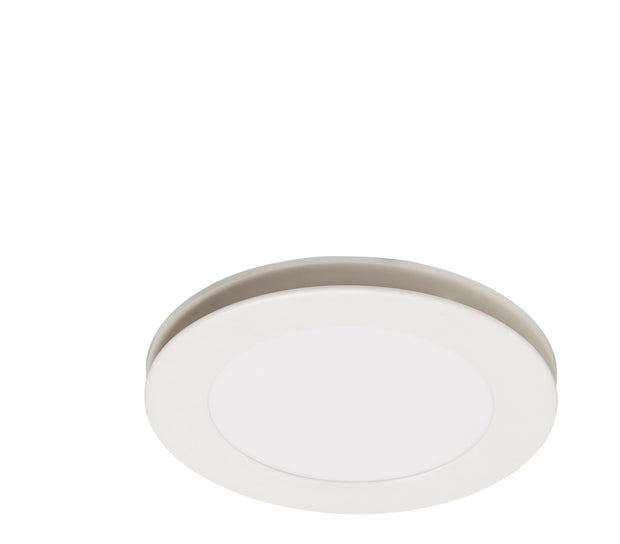 Flow Round Exhaust Fan White with Light - Small