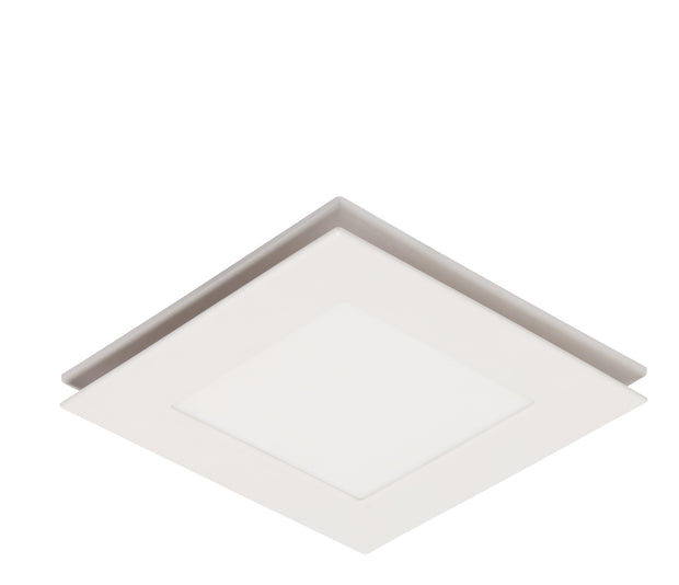 Flow Square Exhaust Fan White with Light - Small