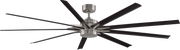 Odyn 84 DC Ceiling Fan Nickel and Black - Lighting Superstore