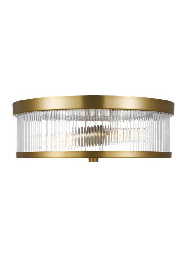 Geneva Flush Mount Burnished Brass Chapman & Myers - Lighting Superstore