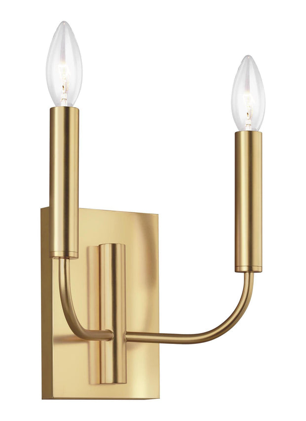 Brianna 2 Light Interior Wall Light Burnished Brass