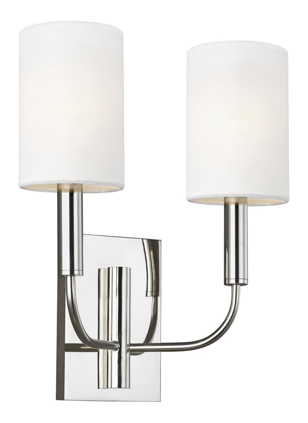 Brianna 2 Light Interior Wall Light Polished Nickel